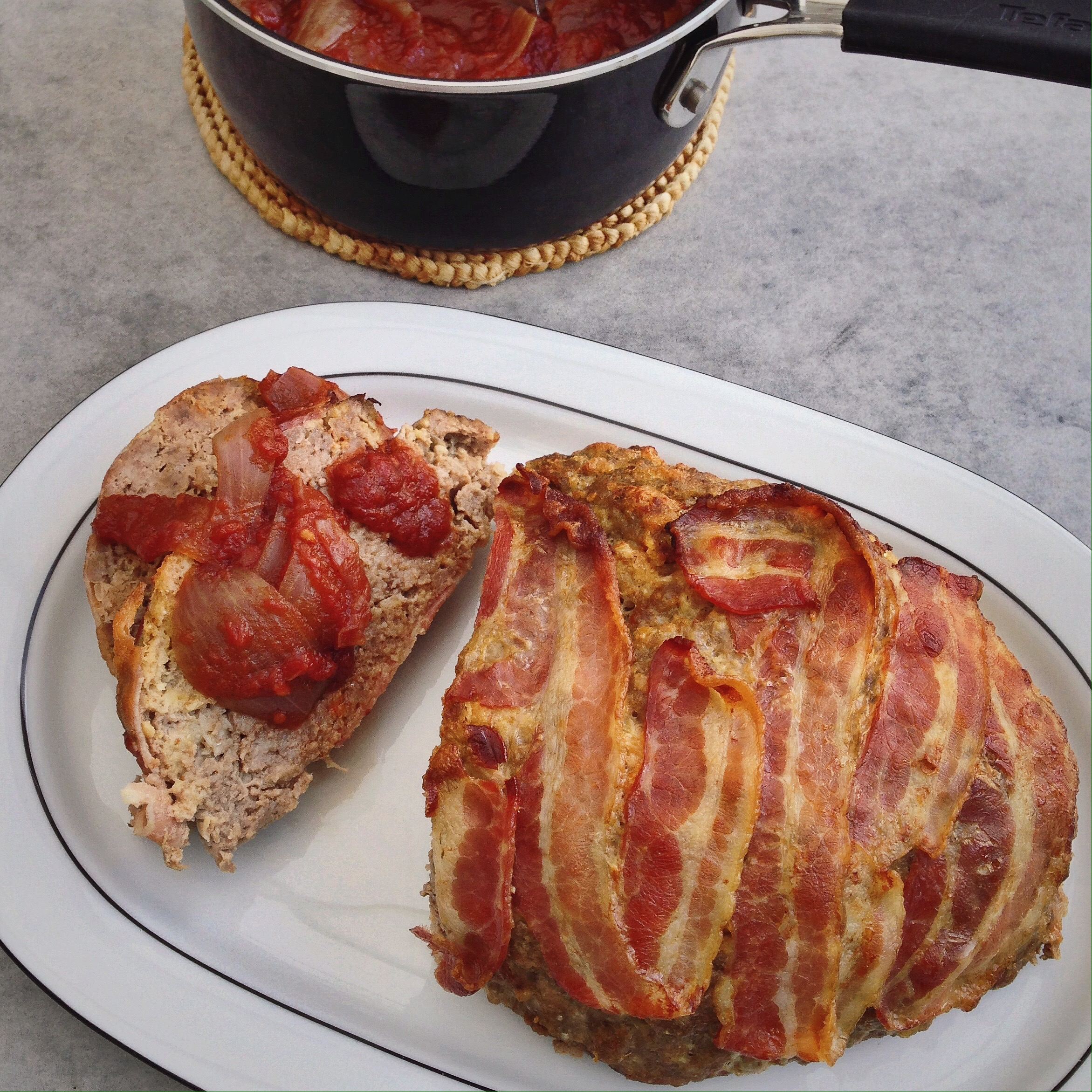 gehaktbrood met tomatensaus, by Cookingdom