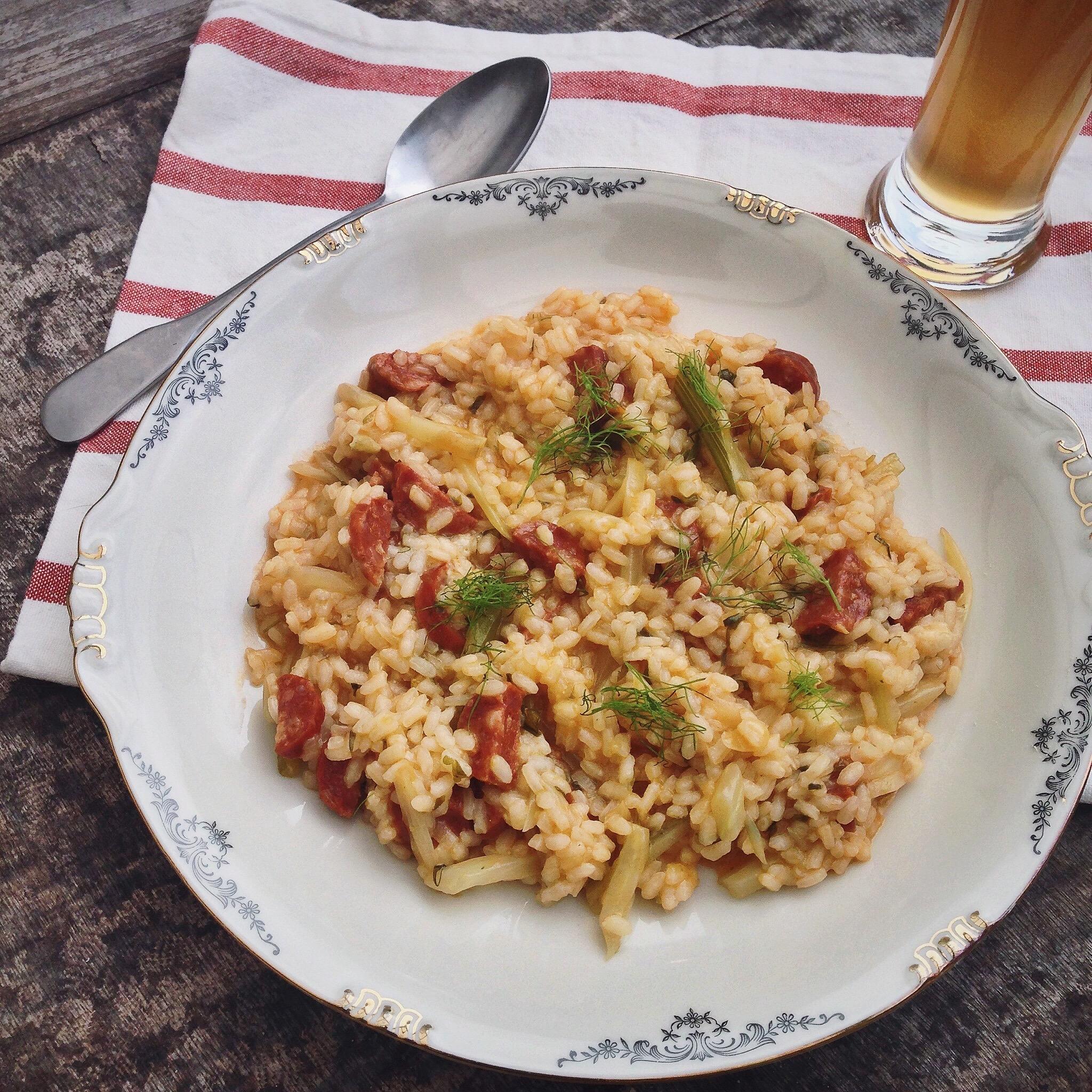 Risotto met chorizo, venkel en bier, by Cookingdom