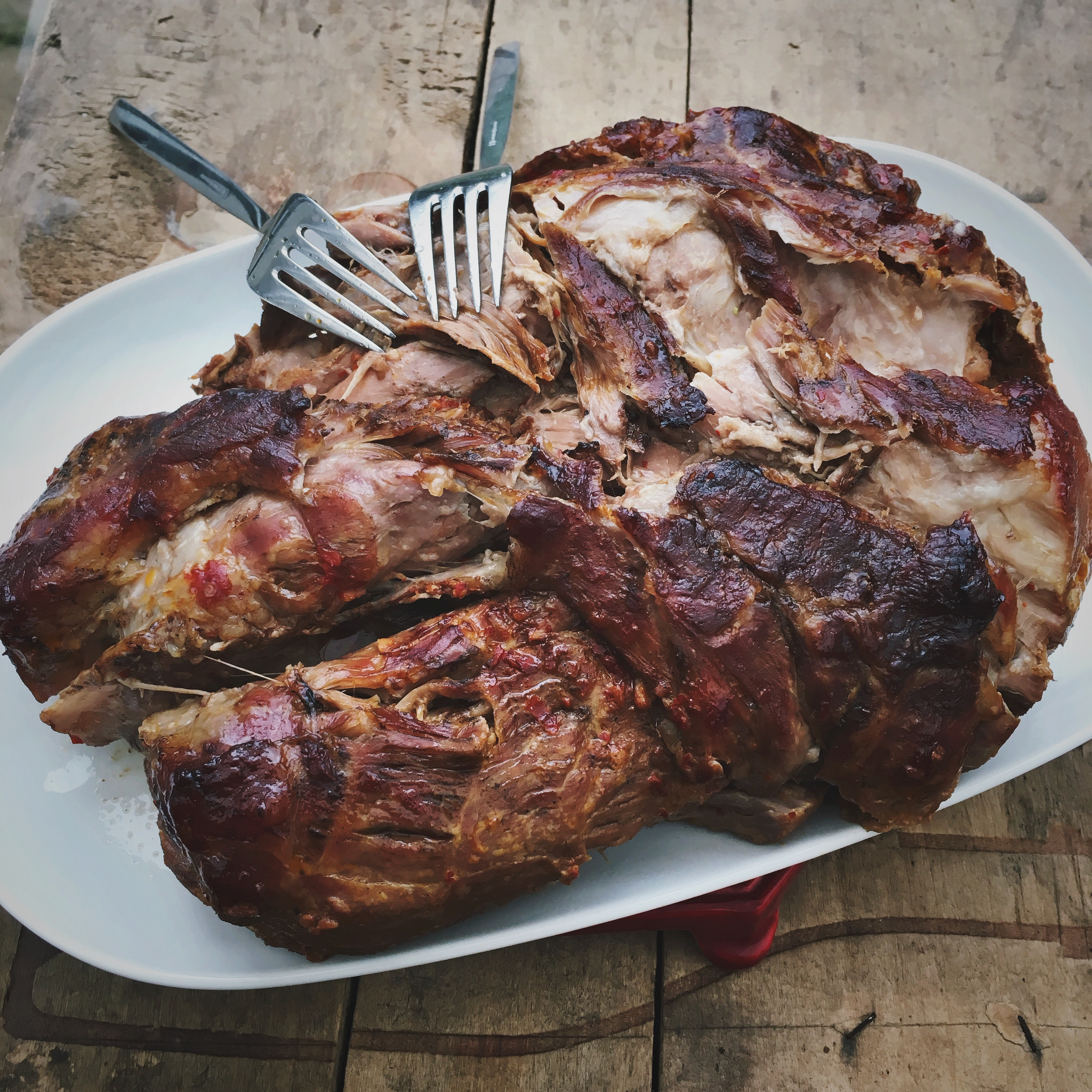 Zoet pittige pulled pork