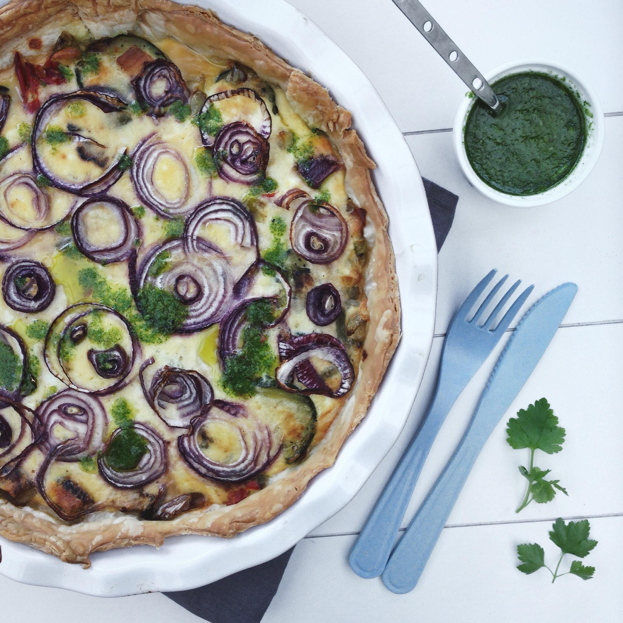 Quiche met gegrilde groenten, by Cookingdom