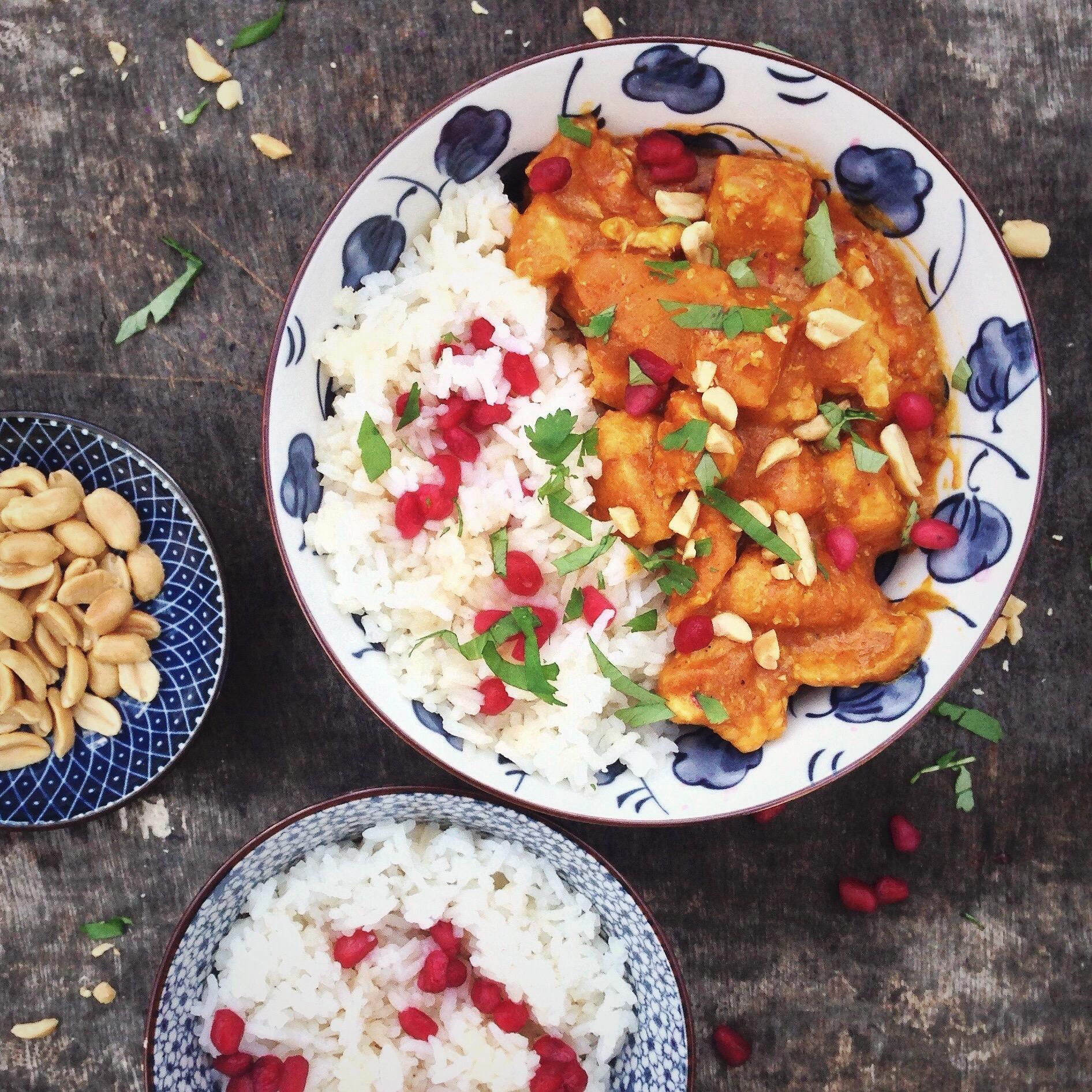 Kip en pompoen curry, by Cookingdom