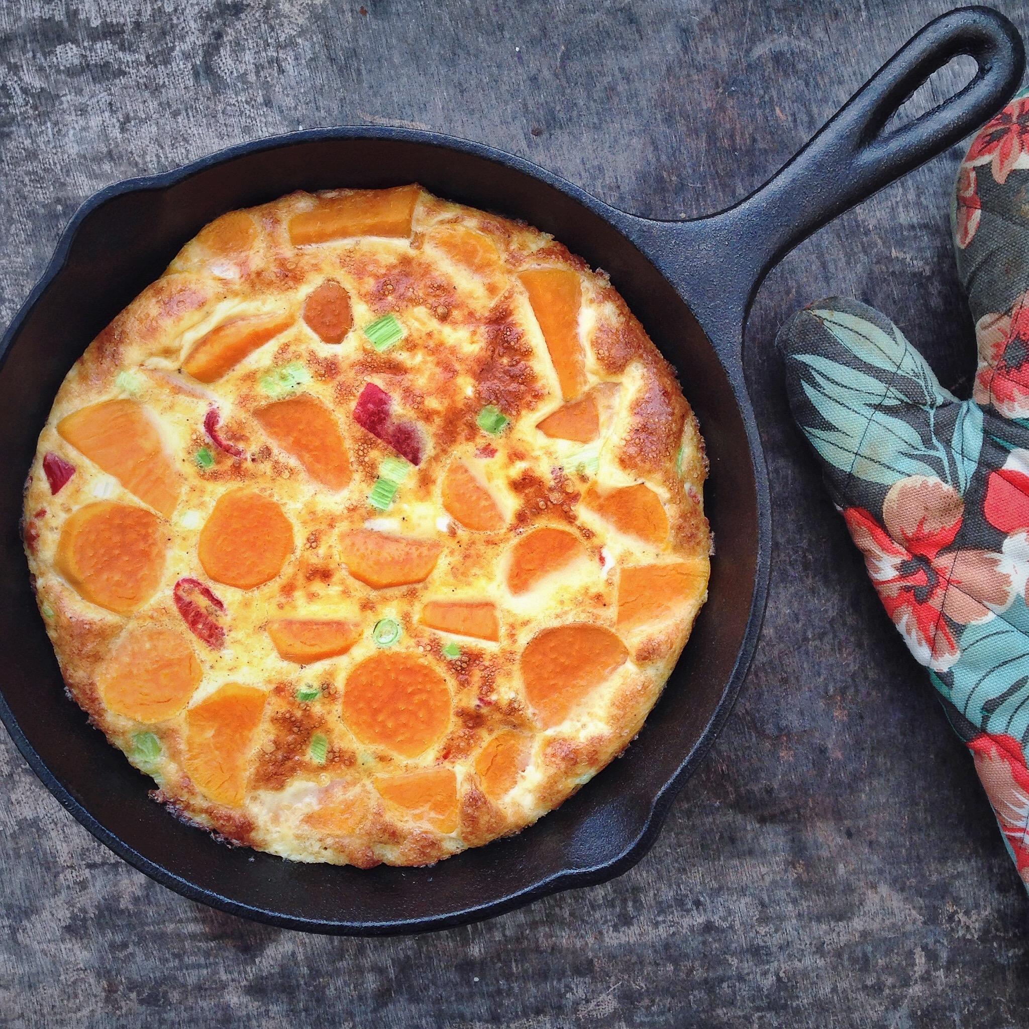 Spaanse omelet met zoete aardappel en gerookte paprika's, by Cookingdom