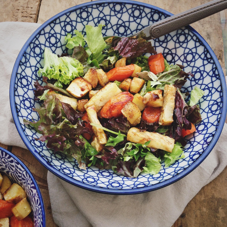 Salade met geroosterde groenten, By Cookingdom