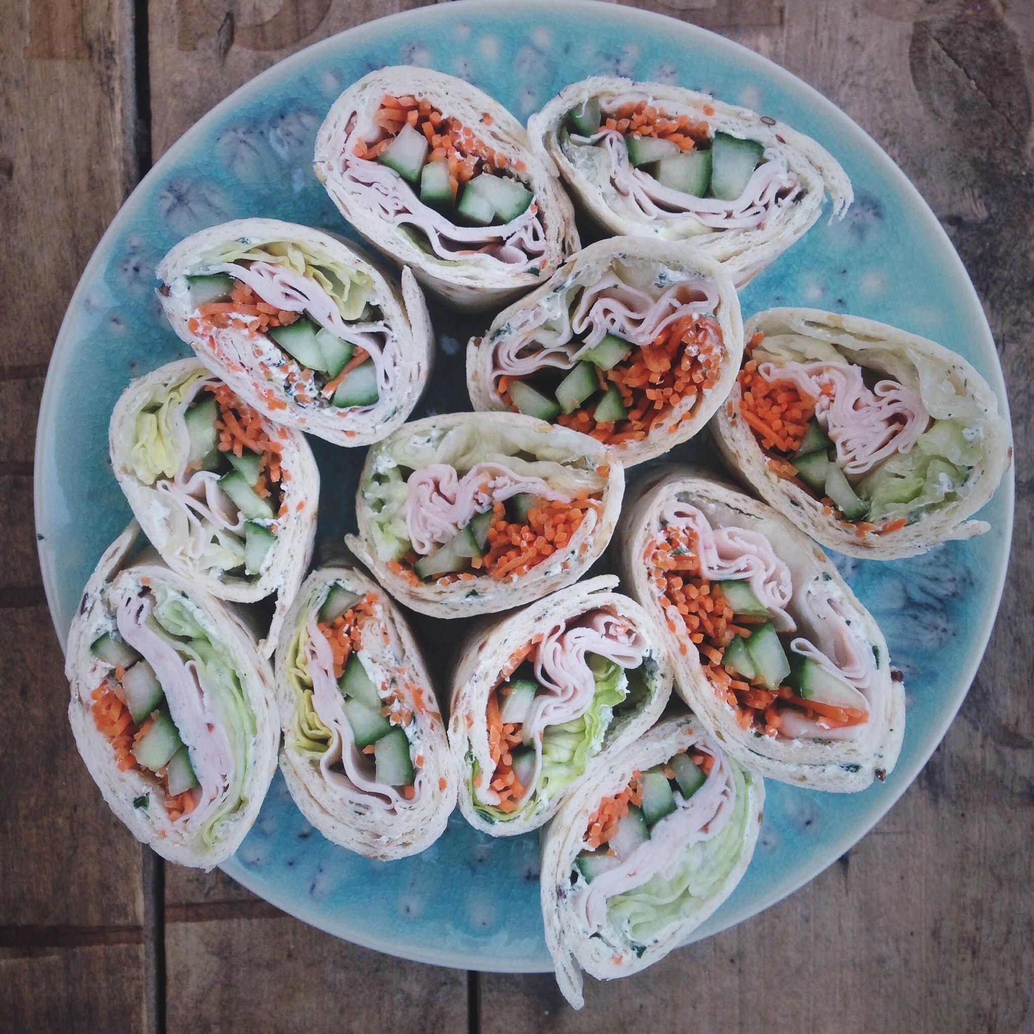 Salade wrap met ham