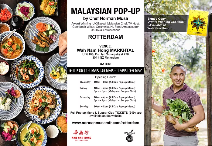 Pop Up restaurant chef Norman Musa in Rotterdam