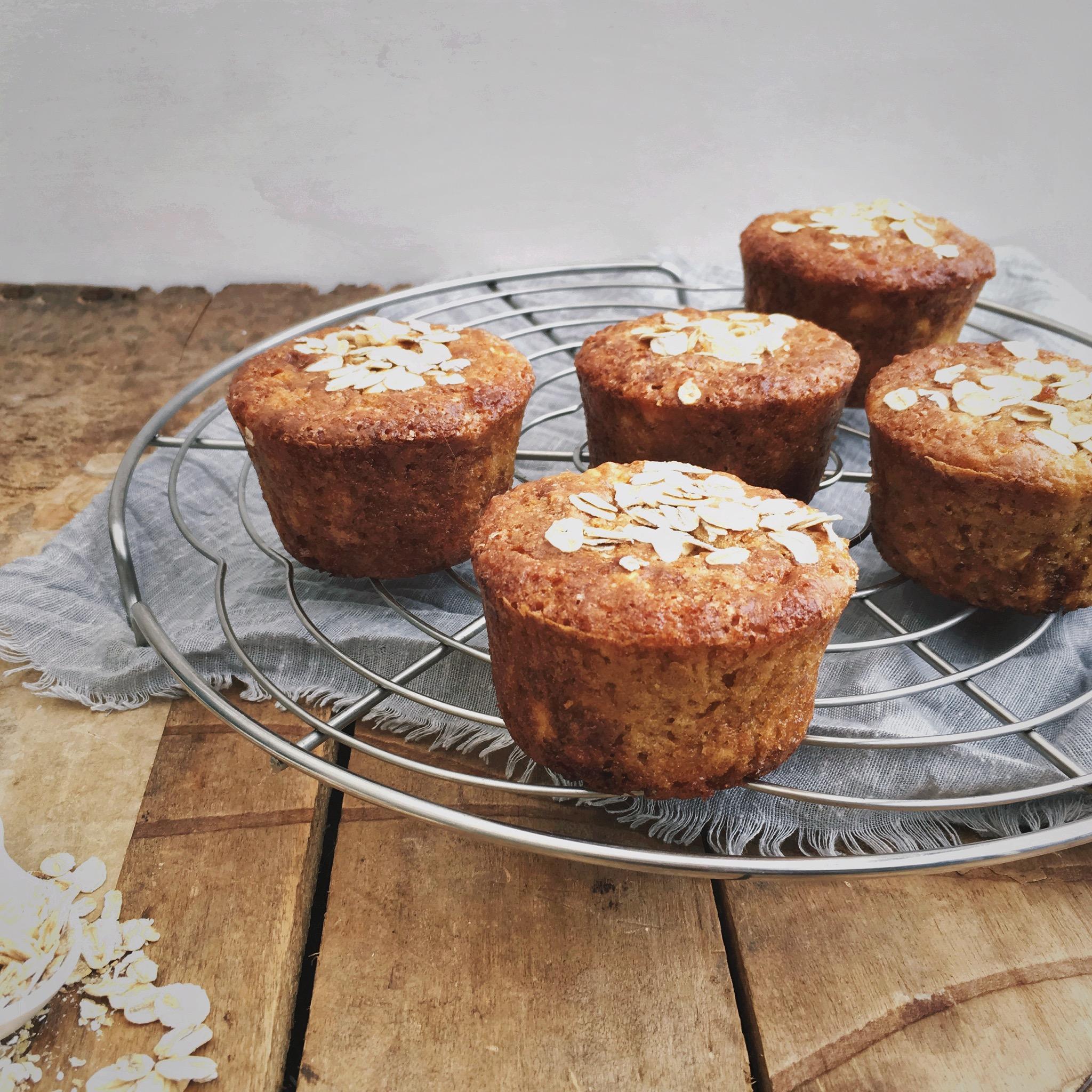 Sinaasappel muffins met havermout