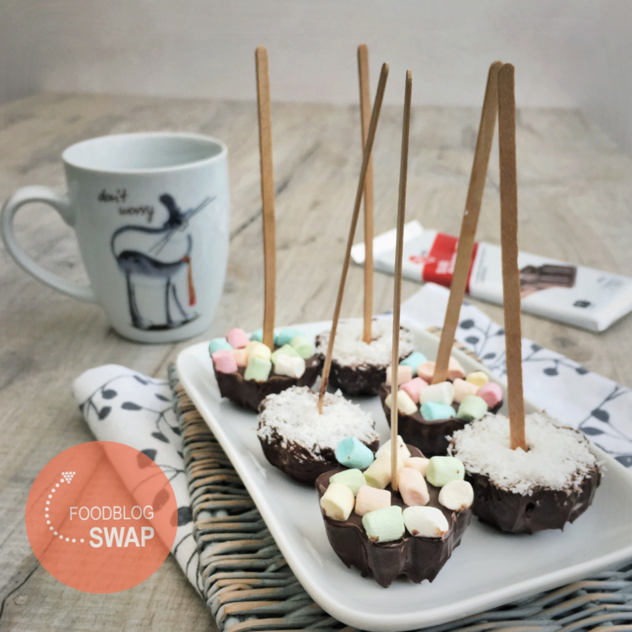 Chocolade lepels voor warme chocolade melk