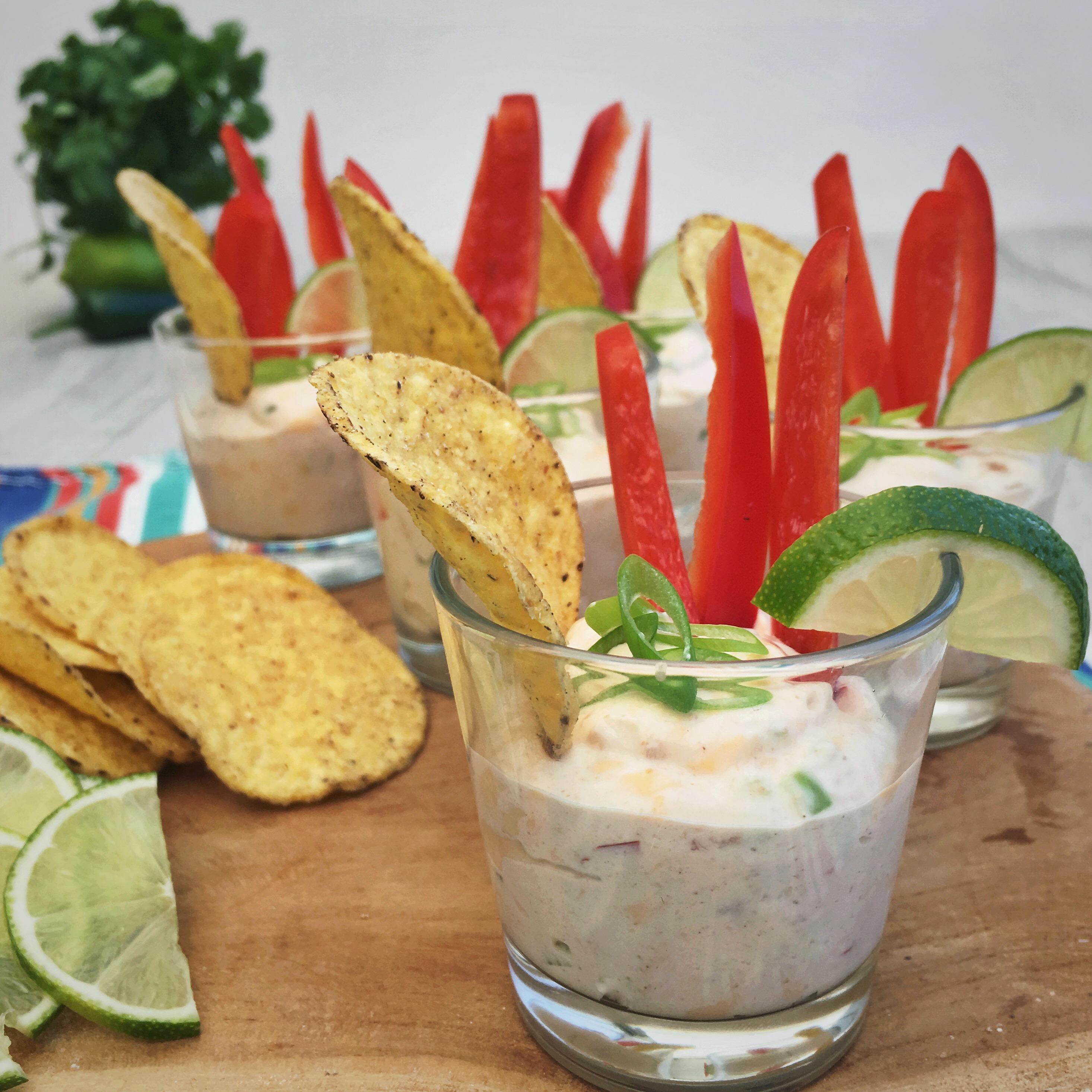 Roomkaas nacho dip