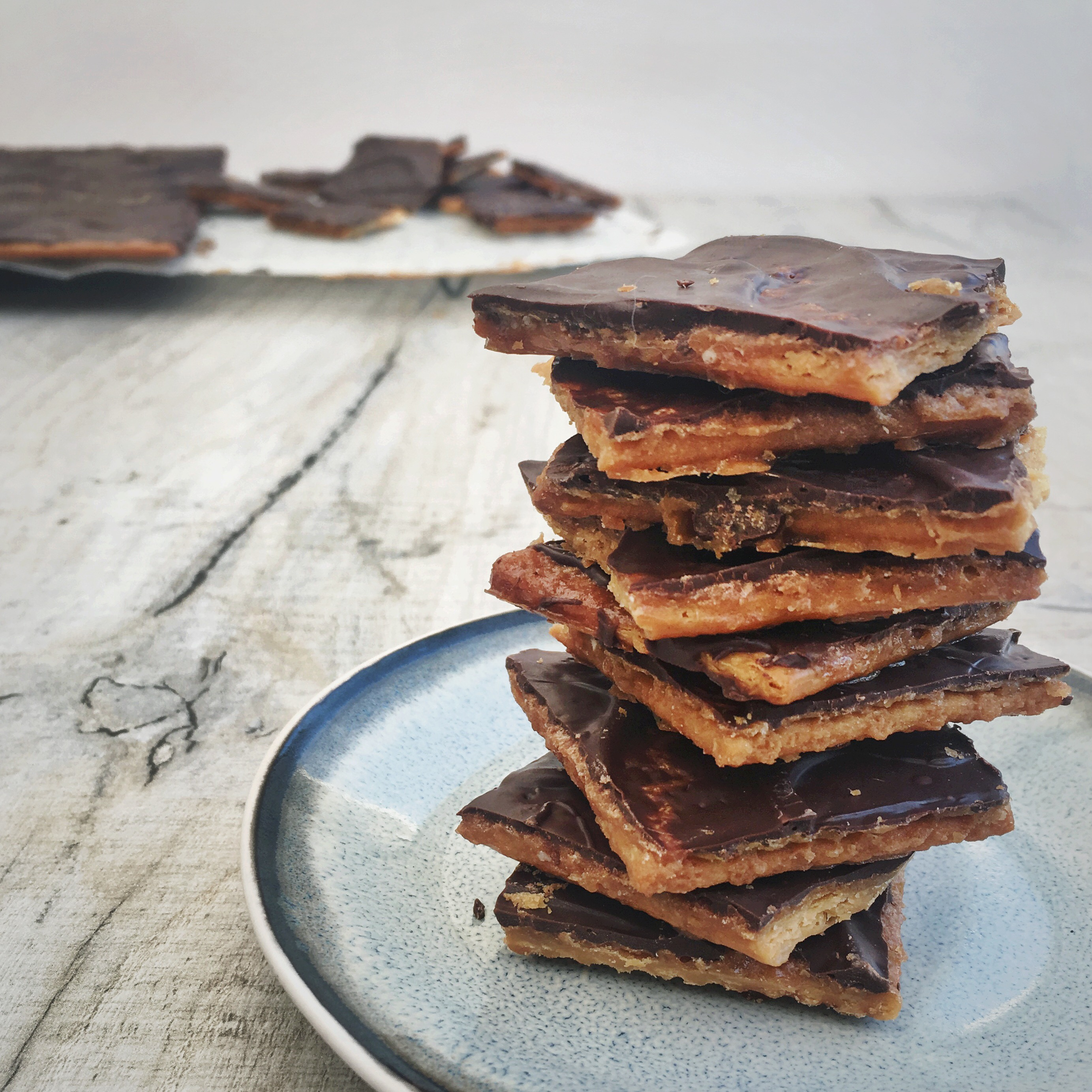 Chocolade karamel crackers