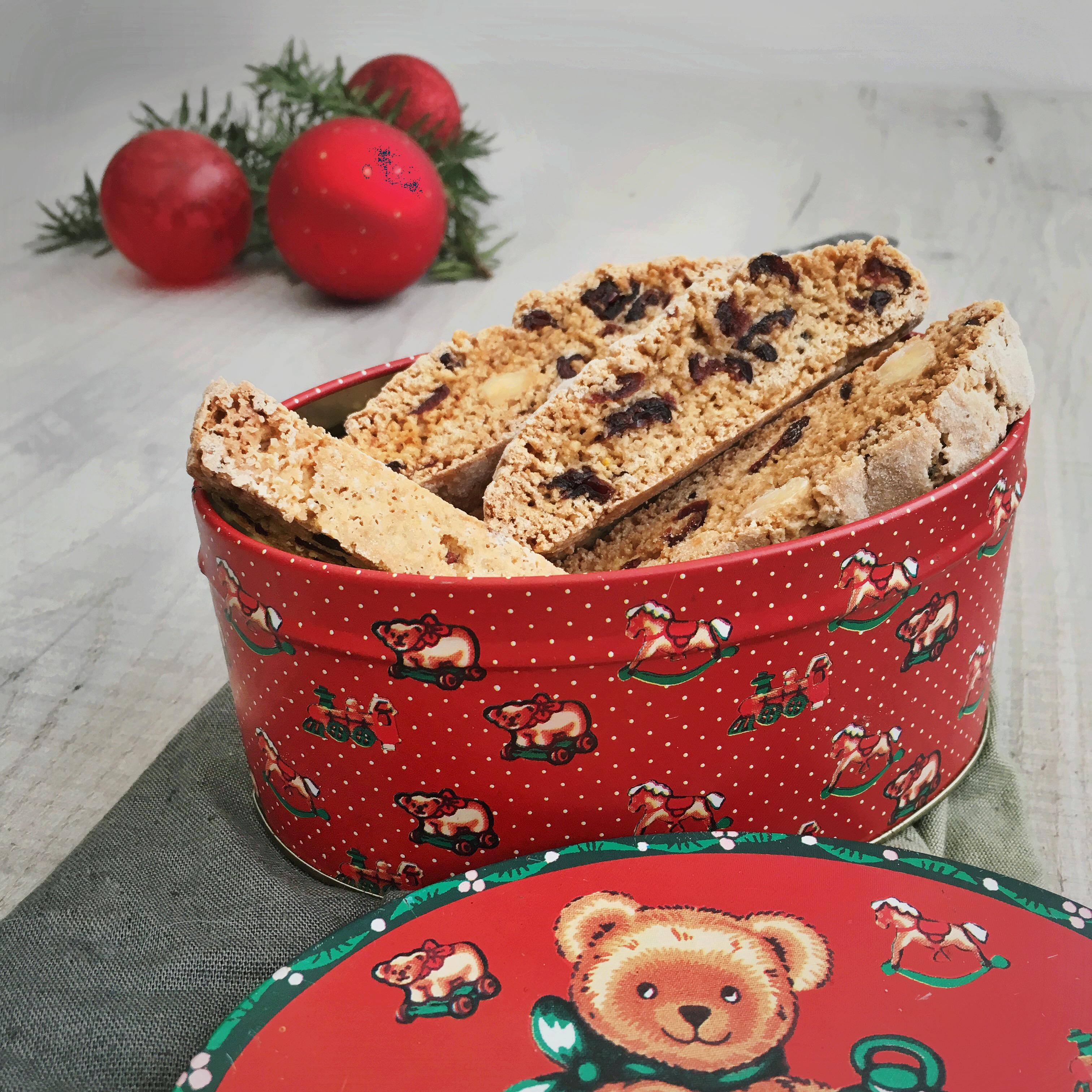Biscotti koekjes met cranberry's