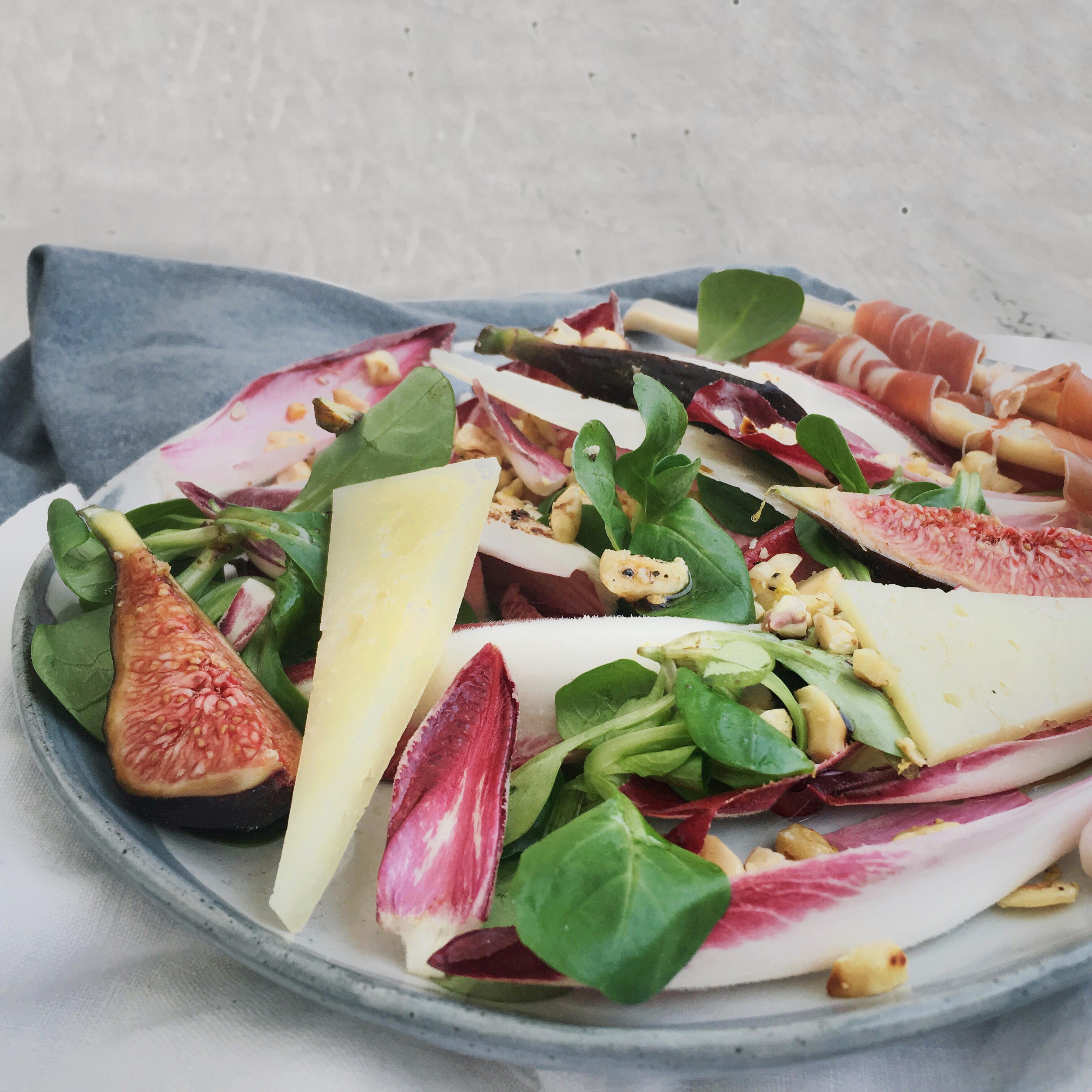 Vijgen en manchego salade