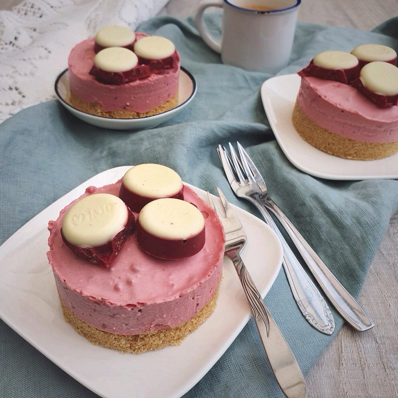 Mini cheesecake met chocolade