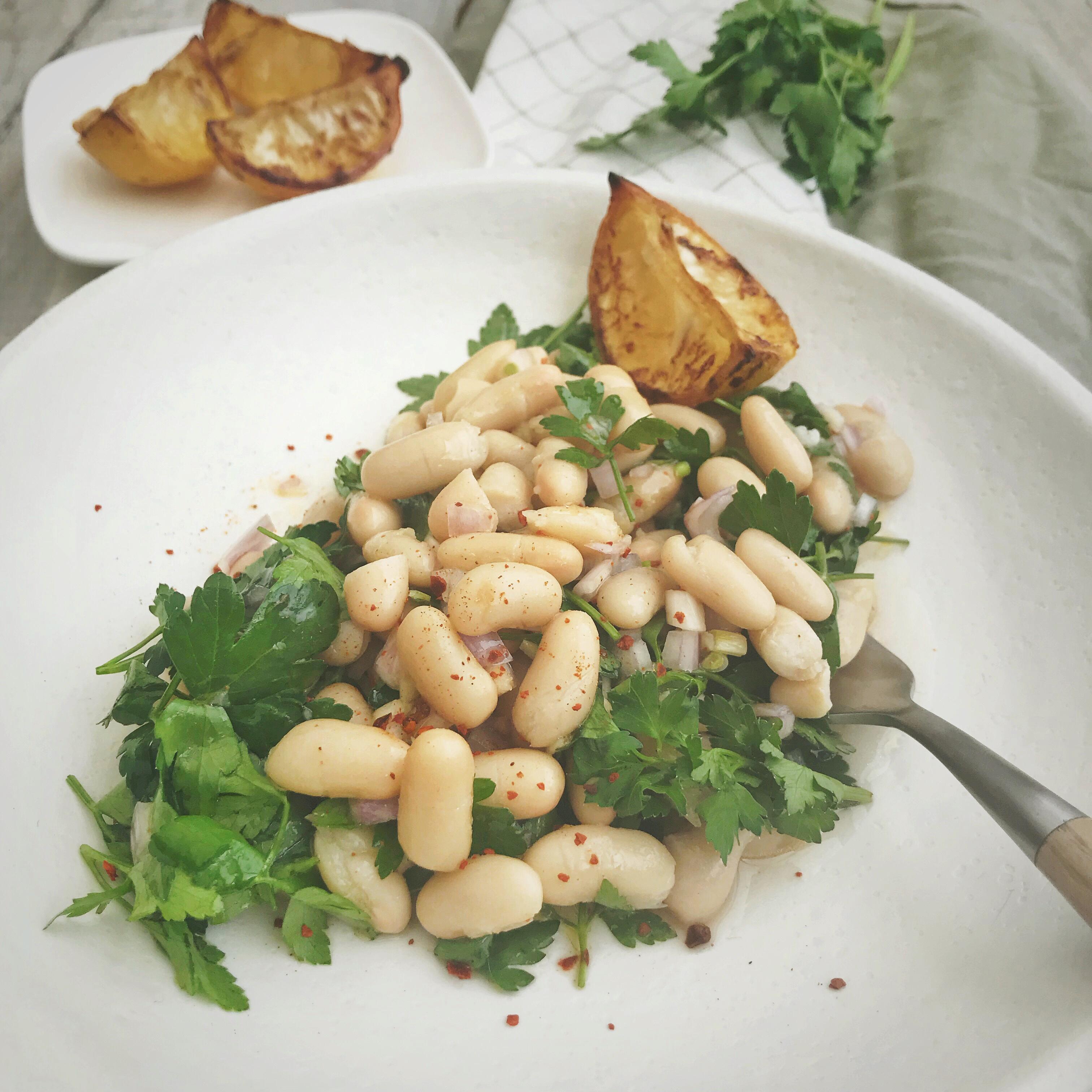 Witte bonen salade met citroen